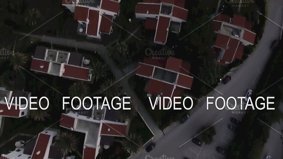 Aerial View Of Resort With Cottages On The Sea Shore Trikorfo Beach Greece