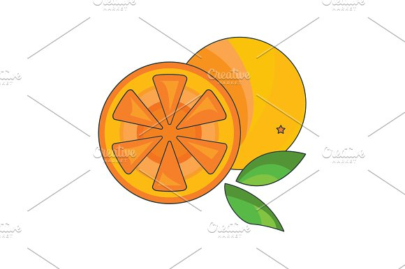 Color Vector Illustration Orange