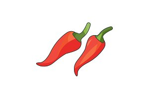 Color vector illustration. Chilli