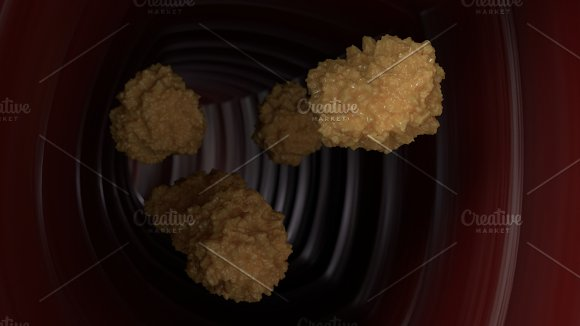 Yellow Virus Cells In Blood System 3D Illustration