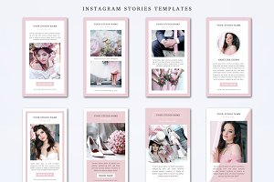 Instagram Stories Templates Set