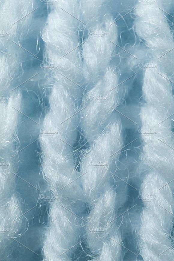 Sky Blue Wool Knitting Texture