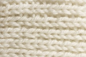 Warm White Wool Knitting Texture