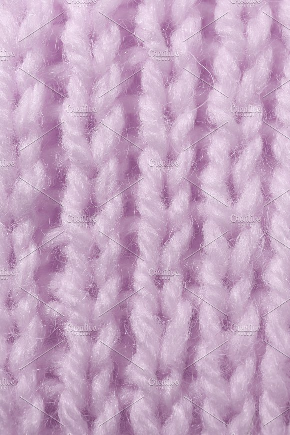 Lilac Wool Knitting Texture