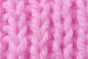 Pink Wool Knitting Texture