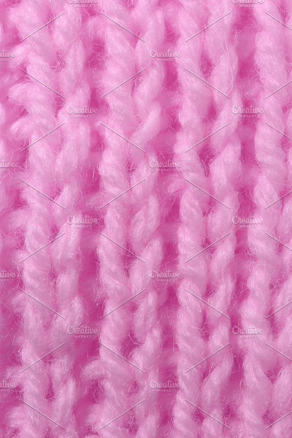 Pink Wool Knitting Texture