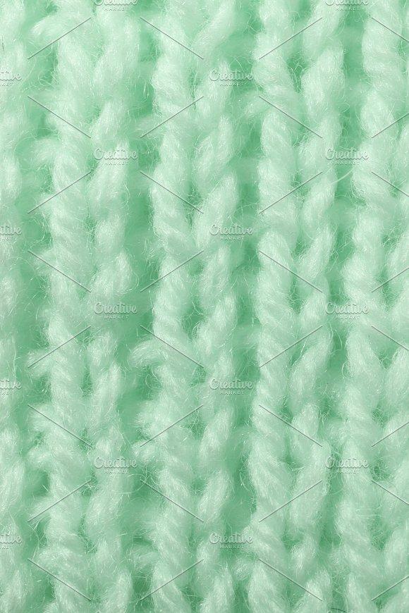 Light Green Wool Knitting Texture