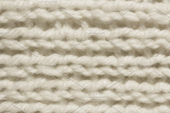 White Wool Knitting Texture