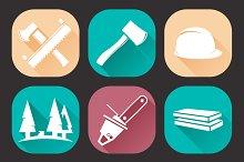 9 Lumberjack Woodcutter Icons