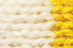 White Yellow Wool Knitting Texture
