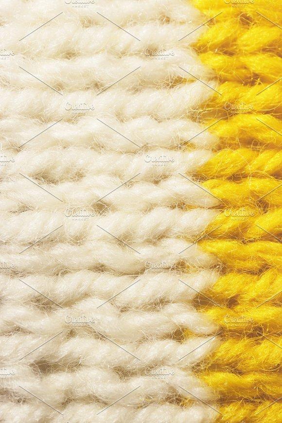 White Yellow Wool Knitting Texture