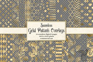 Gold Foil Pattern Overlays