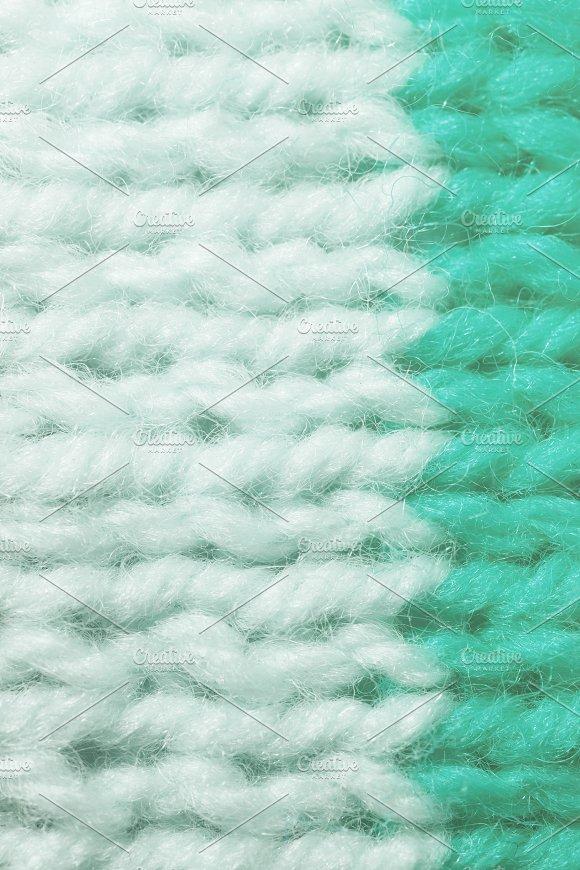 White Blue Wool Knitting Texture