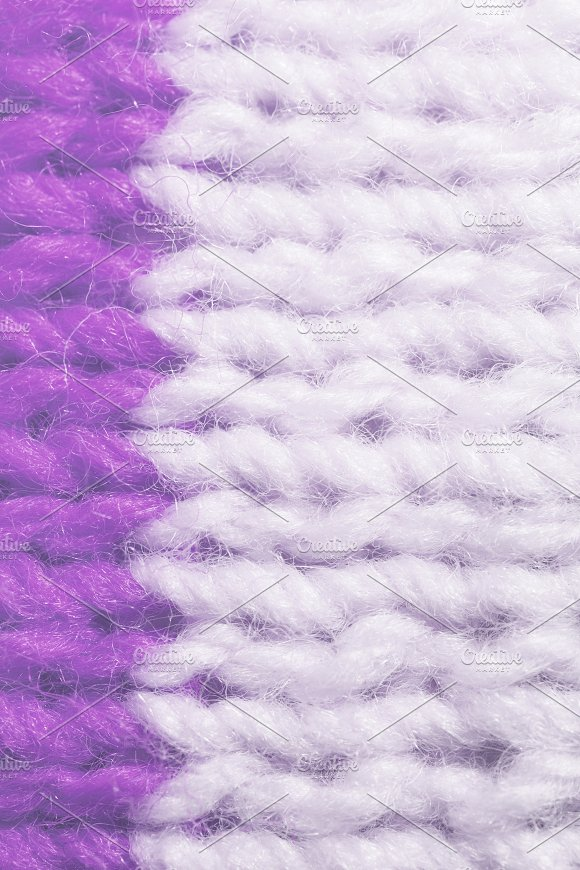 Violet White Wool Knitting Texture