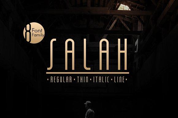 Salah Sans Serif 8 Font Family
