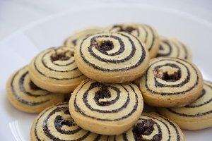 Closeup, freshly baked cookies