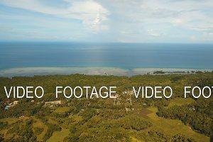 Coastal city near the sea. Philippines, Bohol.