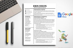 Resume Template Google Docs