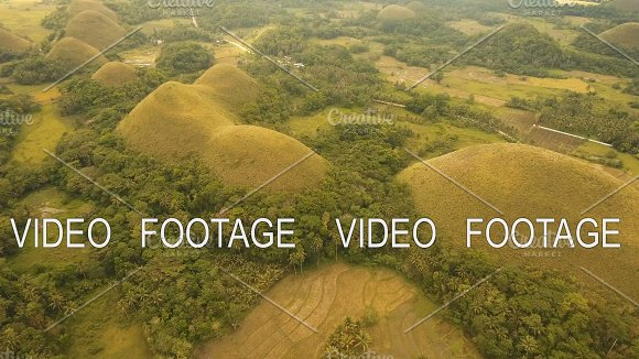 Chocolate Hills In Bohol Philippines Aerial View