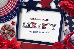 Liberty Font Duo - Stacked Font