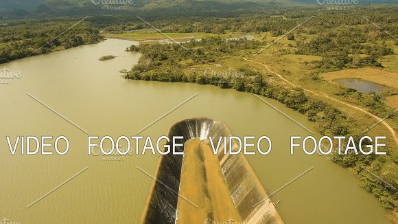 Aerial View Dam On The Lake Bohol Philippines
