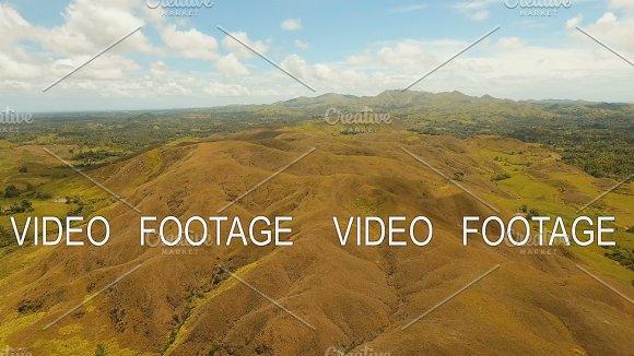 Hilly Landscape On Bohol Island Philippines