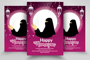 Ramadan Prayer Flyer Templates
