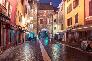 Sepulchre Gate in Old Town of Annecy, France