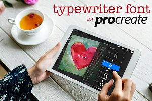 Procreate Typewriter Font lowercase