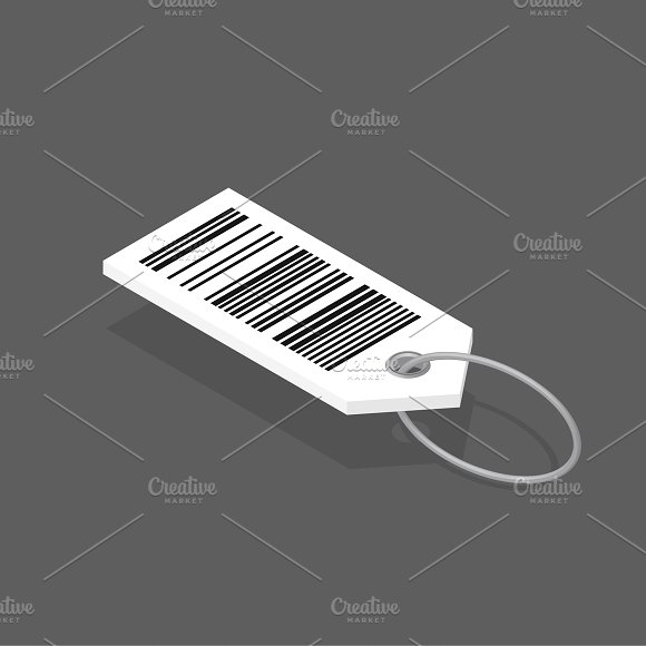 Vector Icon Of Barcode Tag