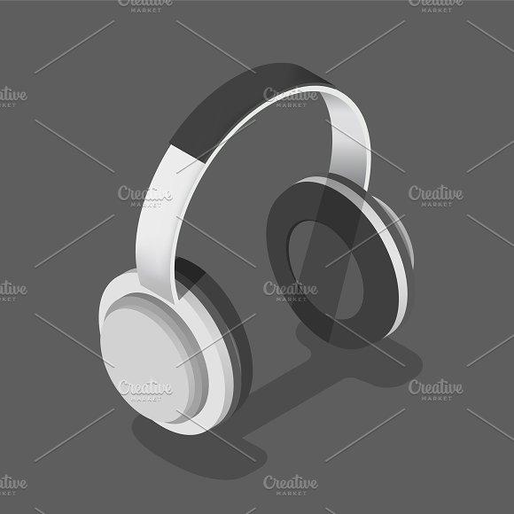 Vector Icon Of Headphones