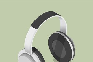 Vector icon of headphones