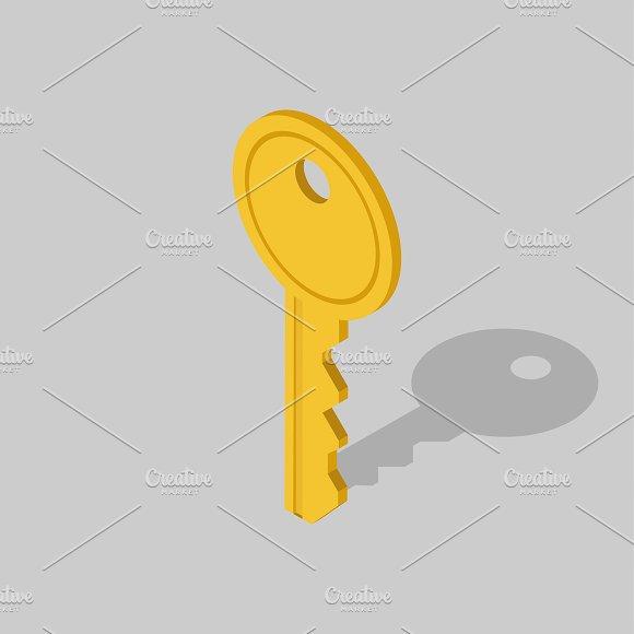 Vector Image Of Key Icon