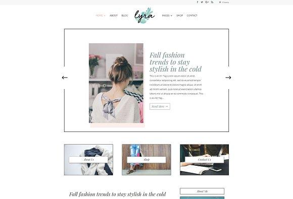 Lyra Feminine WordPress Theme