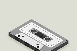 Vector image of tape cassette icon