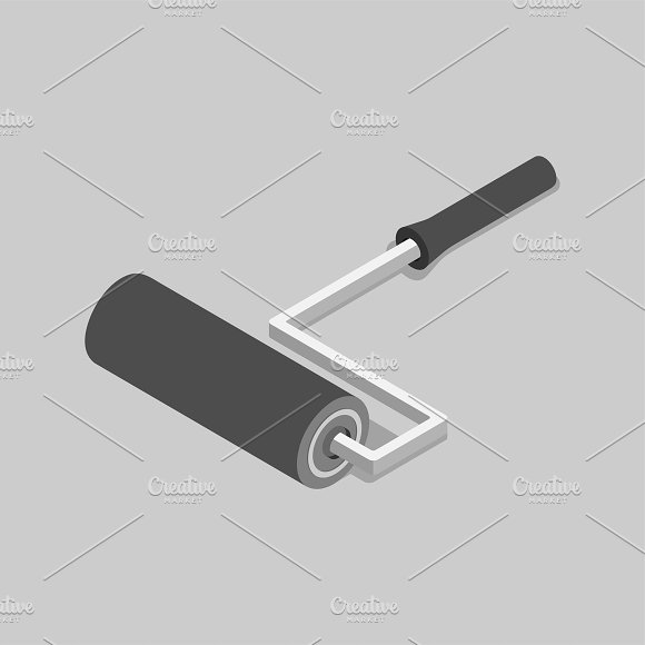 Vector Icon Of Iron Brush