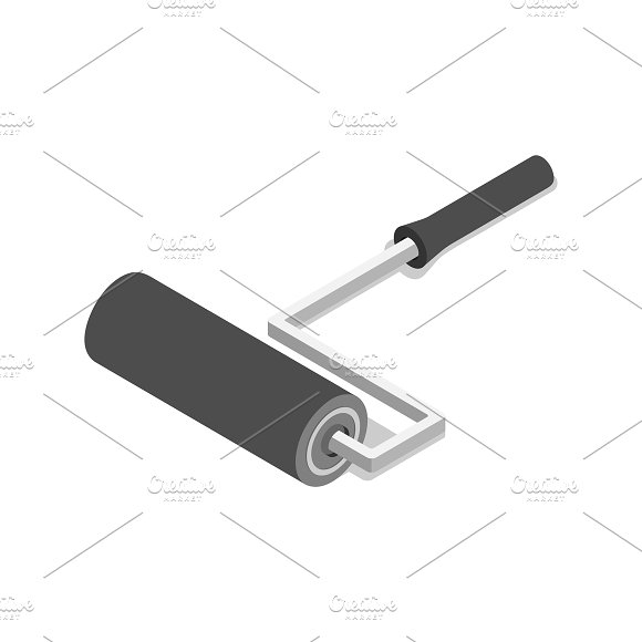 Vector Icon Of Iron Brush