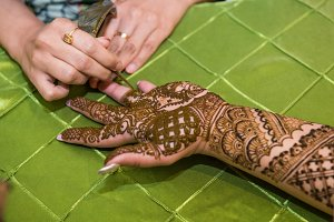 traditional Mehndi henna pattern