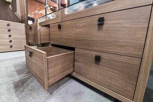 Wooden cabinet drawer box