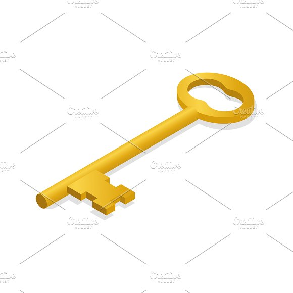 Vector Image Of Key Icon