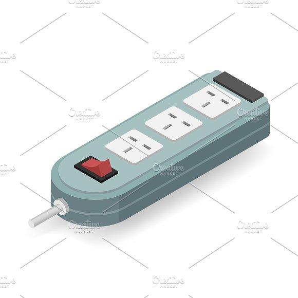 Vector Icon Of Electric Plug