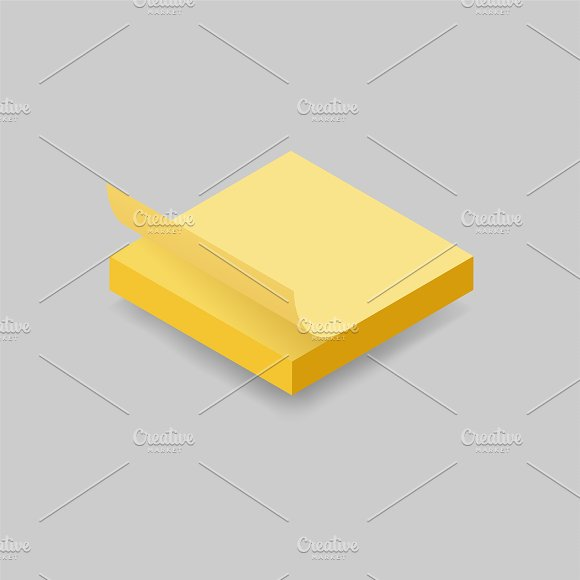 Vector Image Of Paper Note