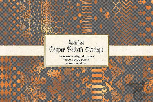 Copper Pattern Overlays