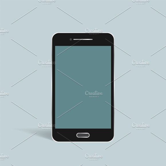 Vector Of 3D Smart Phone Icon