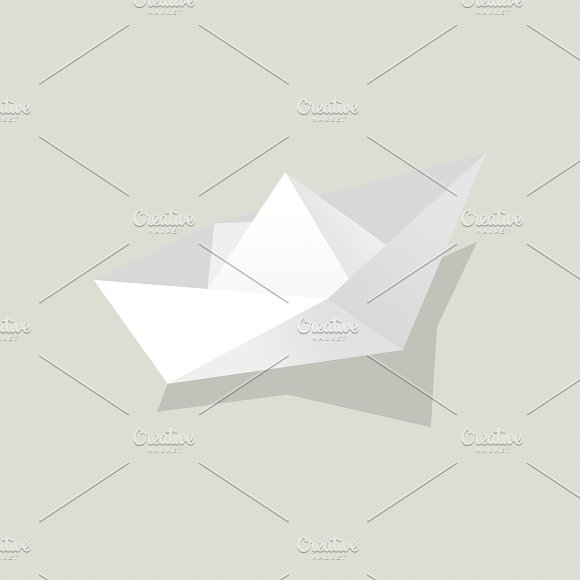 Vector Of Paper Boat Icon