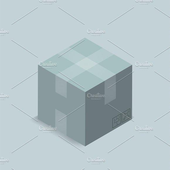 Vector Image Of Parcel Box Icon