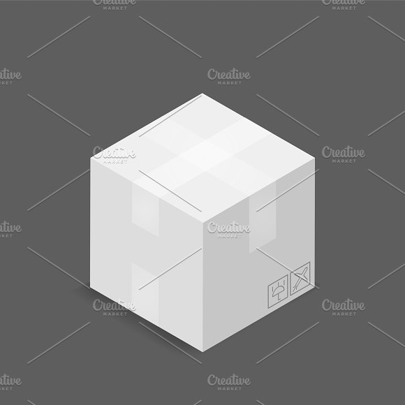 Vector Image Of Parcel Box Icon