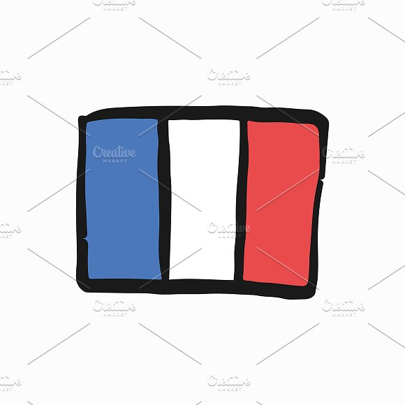 Flag Of French Republic Illustration