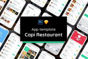 Capi Restaurant UI Kit iOS iphone X