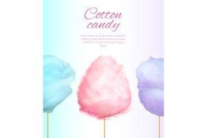 Cotton Candy Banner with Sweet Floss Spun Sugar
